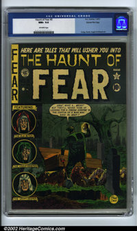 The Haunt of Fear #5 Gaines File pedigree 3/9 (EC, 1951). CGC NM+ 9.6 Off-white pages. Craig, Davis, Ingels and Wood art...