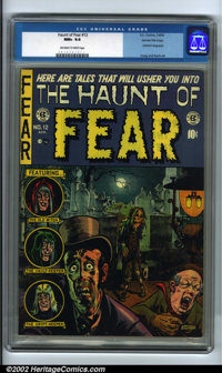 The Haunt of Fear #12 Gaines File pedigree 3/12 (EC, 1952). CGC NM+ 9.6 Off-white to white pages. Feldstein biography. C...