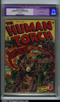 Golden Age (1938-1955):Superhero, Human Torch Comics #15 (Timely, 1944). CGC Apparent VF 8.0 Moderate (P) Restoration includes: color touch, piece added, tear...