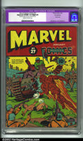 Golden Age (1938-1955):Superhero, Marvel Mystery Comics #27 Pennsylvania pedigree (Timely, 1942). CGC Apparent VF/NM 9.0 Cream to off-white pages. Slight prof...