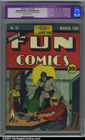 Golden Age (1938-1955):Superhero, More Fun Comics #53 (DC, 1940). CGC Apparent NM- 9.2 Off-white to white pages. Extensive professional restoration includes: ...