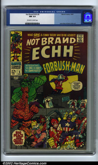 Not Brand Echh #5 (Marvel, 1967). CGC NM 9.4 Off-white to white pages. Jack Kirby and Gene Colan art. Overstreet 2001 NM...