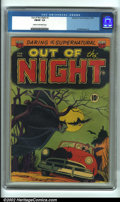 Golden Age (1938-1955):Horror, Out of the Night #1 (ACG, 1952). CGC FN/VF 7.0 Cream to off-whitepages. Overstreet 2001 FN 6.0 value = $182; NM 9.4 value =...