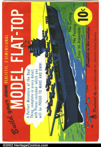 Model Flat-Top Reed Paper Toy (Reed & Associates, Inc., 1944). This paper toy seldom shows up for sale as most o...