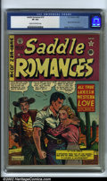 Golden Age (1938-1955):Western, Saddle Romances #10 (EC, 1950). CGC VF 8.0 Cream to off-white pages. Wood's first work at E.C. Ingels, Feldstein and Wood ar...