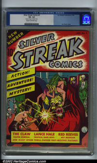 Silver Streak Comics #2 (Lev Gleason, 1940). CGC VG- 3.5 Cream to off-white pages. Two pieces of tape on inside cover. J...