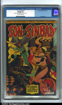 Son of Sinbad #1 (St. John, 1950). CGC VF/NM 9.0 Cream to off-white pages. Moderate transfer staining interior front and...