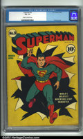 Golden Age (1938-1955):Superhero, Superman #9 (DC, 1941). CGC FN- 5.5 Cream to off-white pages. Classic Fred Ray cover. Overstreet 2001 FN 6.0 value = $853. O...