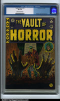 Golden Age (1938-1955):Horror, Vault of Horror #15 (EC, 1950). CGC VF+ 8.5 Cream to off-whitepages. Feldstein, Ingels and Kamen art. Overstreet 2001 FN 6....