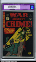 Golden Age (1938-1955):Crime, War Against Crime #6 (EC, 1949). CGC Apparent VF- 7.5 Slight (P) Cream to off-white pages. Restoration includes: very small ...