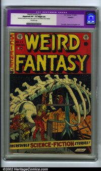 Weird Fantasy #22 (EC, 1953). CGC Apparent VF- 7.5 Slight (A) Restoration includes: color touch, glue on spine of cover...