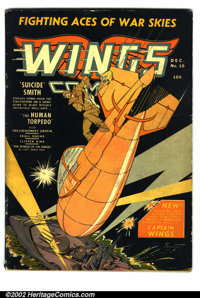 Wings Comics Lot (Fiction House) This lot consists of three issues of Wings Comics. #16 is a G/VG with white pages. #20...