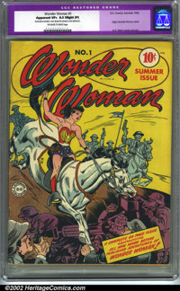 Wonder Woman #1 (DC, 1942). CGC Apparent VF+ 8.5 Off-white to white pages. Slight professional restoration includes: cov...