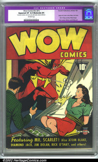 Wow Comics #1 (Fawcett, 1940). CGC Apparent VF 8.0 Moderate (P) Off-white pages. Restoration includes: color touch, spin...
