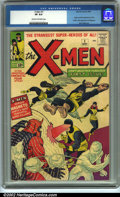 Silver Age (1956-1969):Superhero, X-Men #1 (Marvel, 1963). CGC VF 8.0 Cream to off-white pages.Origin and first appearance of the X-Men. First appearance of ...