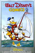 Original Comic Art:Miscellaneous, Carl Barks - Signed Donald Duck Poster (1987). Poster reproducing aclassic Barks cover, signed by Barks himself in the lowe...