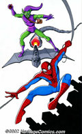 Original Comic Art:Miscellaneous, JE Smith - Spider-Man and Green Goblin Illustration (2002). Just intime for the movie, this is an outstanding illustration ...