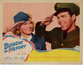 Movie Posters:Comedy, Blondie For Victory Lobby Card (Columbia, 1942). Lobby card.Condition: FN, some wear at edges....
