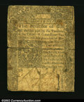 Colonial Notes:Connecticut, Connecticut May 10, 1770 2s6d Fine. Well circulated but sol...