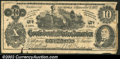 Confederate Notes:Group Lots, A facsimile of the T-46 1862 $10 design, Fine. A few nicks and ...