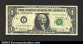 Error Notes:Ink Smears, 1969-B $1 Federal Reserve Note, Fr-1905-F, VF-XF. There is ...