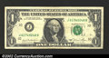 Error Notes:Ink Smears, 1981 $1 Federal Reserve Note, Fr-1911-J, XF. There is a very ...
