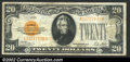 Small Size:Gold Certificates, 1928 $20 Gold Certificate, Fr-2402, VF....