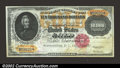 Large Size:Gold Certificates, 1900 $10,000 Gold Certificate, Fr-1225, Gem CU. A gorgeous ...
