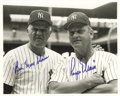Autographs:Photos, 1980's Roger Maris & Moose Skowron Signed Photograph. Teammates during that historic 1961 season, Moose and Rajah reunite i...