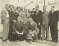 Autographs:Photos, 1942 Babe Ruth, Gary Cooper & More Signed Photograph. Intriguing keepsake derives from the family of Irvin Lisagor, the Was...