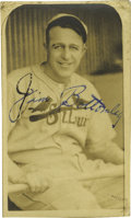 Autographs:Photos, Early 1930's Jim Bottomley Signed Burke Photograph. Soulful portrait of this St. Louis Cardinals Hall of Famer could only b...