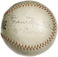 Autographs:Baseballs, 1930's Dizzy Dean & Pepper Martin Signed Baseball. Serious Cardinals collectors will not want to miss the rare opportunity ...