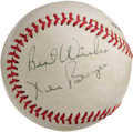 "Autographs:Baseballs, 1970's Ken Boyer Single Signed Baseball. His number ""14"" wasretired from the St. Louis Cardinals wardrobe two years after ..."