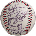 Autographs:Baseballs, 2000 Memphis Redbirds (Triple-A) Team Signed Baseball with Albert Pujols. He's the only player in Major League history to b...