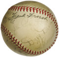 Autographs:Baseballs, 1937 St. Louis Cardinals Team Signed Baseball. Exceptional Hall ofFame talent leaves baseball historians scratching their ...