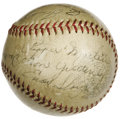 Autographs:Baseballs, 1939 St. Louis Cardinals Team Signed Baseball. The historicCentennial season that still stands as one of our National Past...