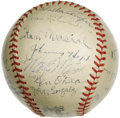 Autographs:Baseballs, 1944 St. Louis Cardinals Team Signed Baseball. In what was arguably the most exciting October in St. Louis history, the Car...