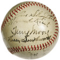 Autographs:Baseballs, 1941 St. Louis Cardinals Team Signed Baseball. Eighteen bold blackfountain pen signatures document this second-place squad...