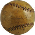 Autographs:Baseballs, Circa 1929 Jimmie Foxx Single Signed Baseball. The second man toearn a key to the 500 Home Run Clubhouse is also the secon...