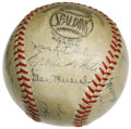 Autographs:Baseballs, 1943 St. Louis Cardinals Team Signed Baseball. Another NationalLeague Championship for the Redbirds, who finished the regu...