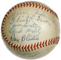 Autographs:Baseballs, 1931 St. Louis Cardinals Team Signed Baseball. Tremendous Hall of Fame talent guided the Cards to their fourth pennant and ...
