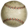 Autographs:Baseballs, 1928 St. Louis Cardinals Team Signed Baseball. The National Leaguepennant winners fell victim to the legendary Murderers R...