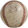 Autographs:Baseballs, 1964 St. Louis Cardinals Team Signed Baseball. The Game Seven WorldSeries victory over the Yankees this season could be se...