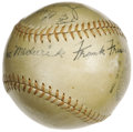 Autographs:Baseballs, 1935 St. Louis Cardinals Team Signed Baseball. The Gashouse Gangplus one. The Cards came up just short of a pennant repea...
