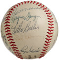 Autographs:Baseballs, 1968 St. Louis Cardinals Team Signed Baseball. So dominating wasBob Gibson's pitching this season (1.12 ERA, unanimous vot...