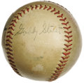 Autographs:Baseballs, 1940's Gabby Street Single Signed Baseball. The St. Louis skipper at the helm of the memorable World Series battles with th...