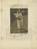 Autographs:Others, Circa 1935 Len Koenecke Signed Scrapbook Page. The owner of perhapsthe most bizarre obituary in Big League history. Thoug...