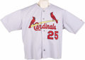Baseball Collectibles:Uniforms, 2000 Mark McGwire Game Worn Jersey. Big Mac was still the reigningsingle season Home Run King the season he suited up in t...