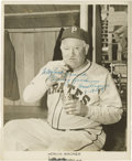 Autographs:Photos, 1948 Honus Wagner Signed Photograph. If the widely held belief that Wagner removed himself from the T206 set due to his opp...