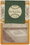 "Baseball Collectibles:Others, 1908 ""Our Home Team"" Chicago White Sox Accordion Postcard. Onlyfive teams from this highly collectible series are known to ..."